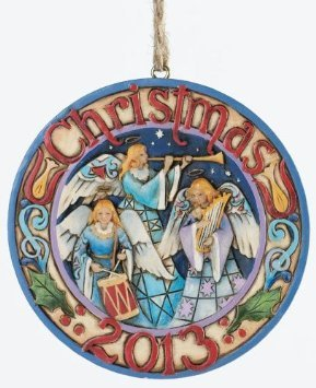 Jim Shore Triple Angel Dated 2013 Christmas Ornament