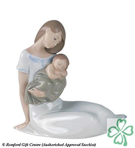 Nao Porcelain by Lladro LIGHT OF MY DAYS ( MOTHER HOLDING BABY BOY ASLEEP ) 2001446