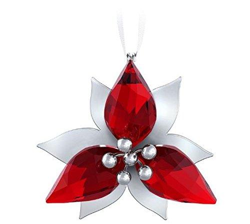 Swarovski Poinsettia Ornament, Silver Tone