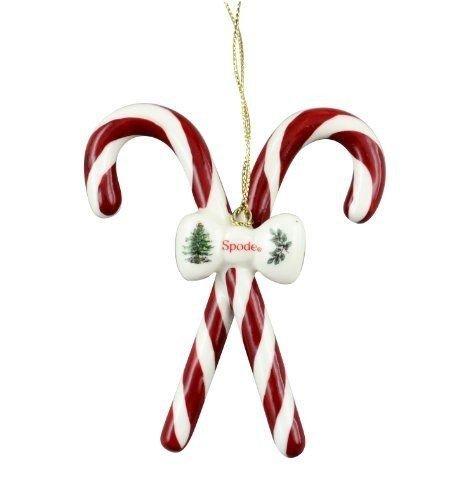 DistiKem(TM) Spode Christmas Tree Candy Canes Ornament