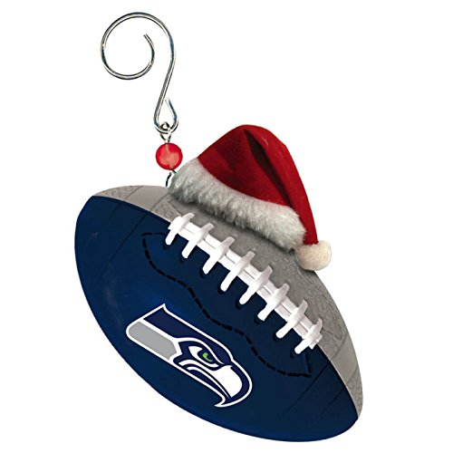 Seattle Seahawks Football Christmas Ornament