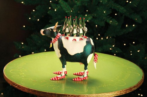 Patience Brewster Krinkles 8 Maids A Milking 12 Days Christmas Ornament
