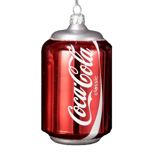 Kurt Adler 4-3/4-Inch Glass Classic Coca-Cola Can Ornament