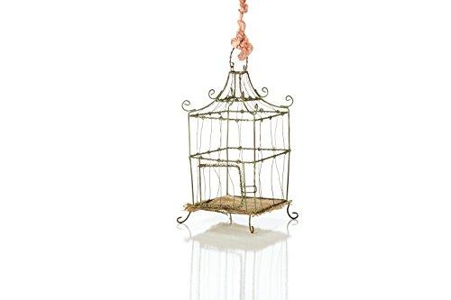 Sage & Co. EAN16674GR 8.5″ Wire Birdcage Ornament