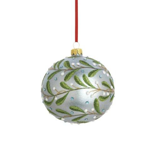 Reed & Barton Mistletoe Ball Christmas Ornament, 4-Inch