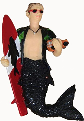 December Diamonds Woody with Surfboard & Toy SUV Merman Magnet- Discontinued & will never be produced again!