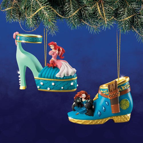 Disney Once Upon A Slipper Ornament #13 Bradford Exchange Ornament Set