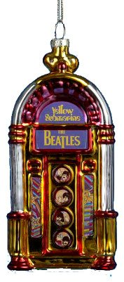 The Beatles Yellow Submarine Jukebox Glass Holiday Christmas Ornament
