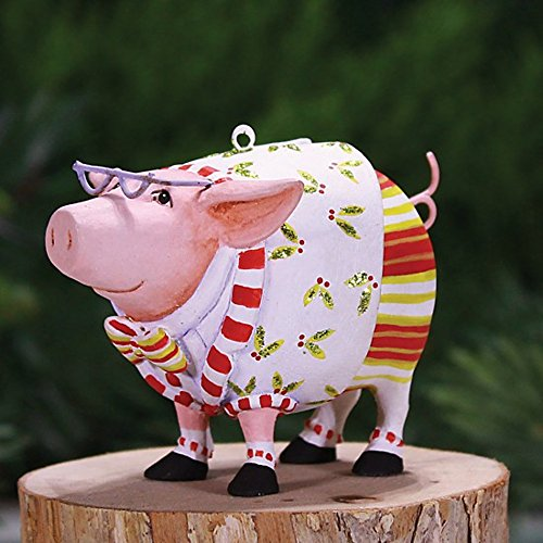 3″ Patience Brewster Krinkles Mini Norbert Pig Decorative Christmas Ornament
