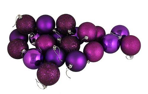 Vickerman 70mm 4 Finish Ball Ornament, Small, Purple