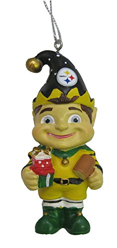 NFL Pittsburgh Steelers Elf Team Christmas Ornament – 3″