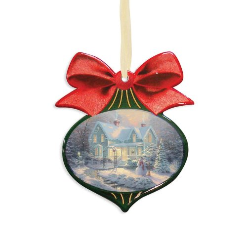 Enesco Thomas Kincade Painter of Light Blessings of Christmas Ornament, 4-Inch