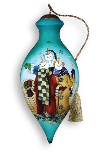 Ne'Qwa Art What Wonders – Glass Ornament Hand-Painted Reverse Painting Distinctive 439-NEQ