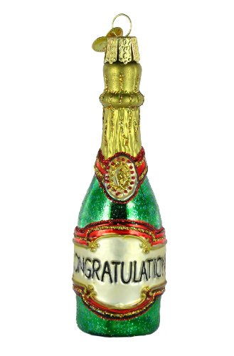 Old World Christmas Champagne Bottle Ornament