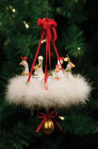 Patience Brewster Krinkles 6 Geese A Laying 12 Days Christmas Ornament