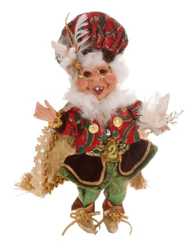 Mark Roberts Collectible Two Turtle Doves Christmas Elf – Small 12″ #51-27628