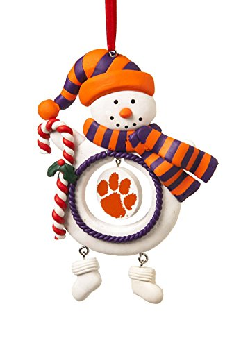 Clemson University Jolly Christmas Snowman Ornament