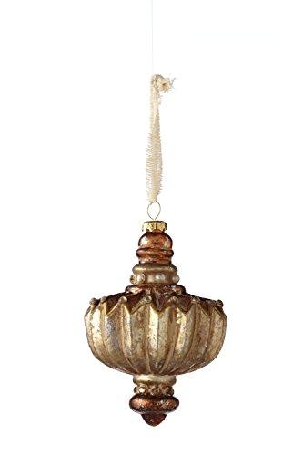 Sage & Co. XAO16837PL 5″ Glass Ruffle Drop Ornament