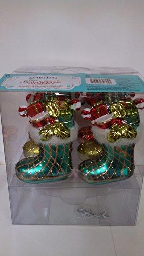 5 in. Stuffed Stocking Shatterproof Ornament Set (6-Piece)