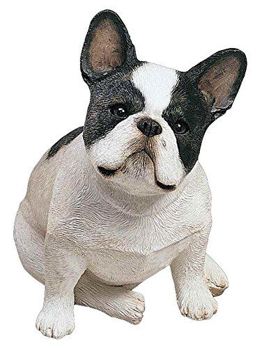 Sandicast Original Size Brindle French Bulldog Sculpture, Sitting