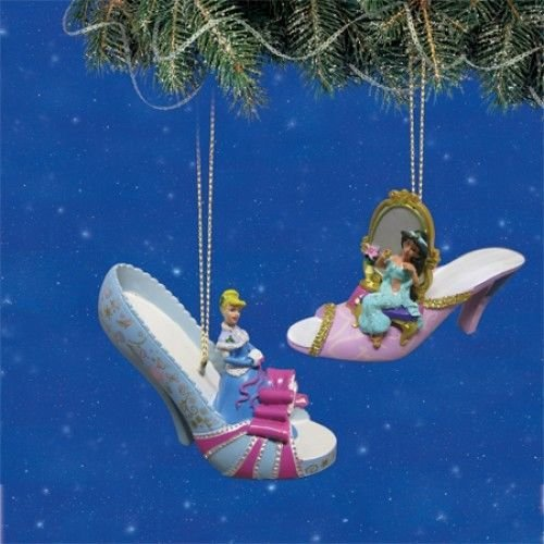 Disney Once Upon A Slipper Ornament #8 Bradford Exchange Ornament Set