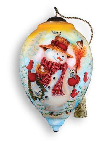 Ne'Qwa Art Feathered Friends – Glass Ornament Hand-Painted Reverse Painting Distinctive 446-NEQ