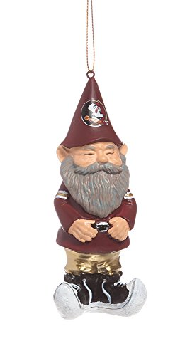 Florida State Seminoles Mini Garden Gnome Christmas Ornament