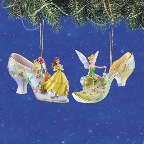Disney Once Upon A Slipper Ornament #2 Bradford Exchange Ornament Set