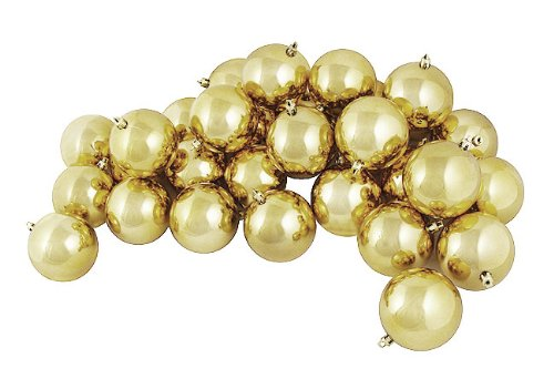 Vickerman Luxe Gold Shiny Ball, Includes 32 Per Box, 3-Inch