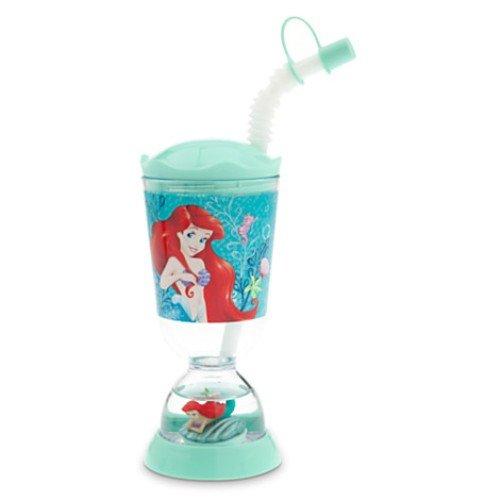 Disney Ariel Little Mermaid Flounder Snowglobe Tumbler with Straw By 5starservice