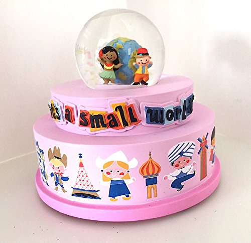 Disney Parks It's a Small World Musical Snowglobe NEW