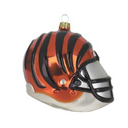 Cincinnati Bengals Team Glass Helmet Ornament