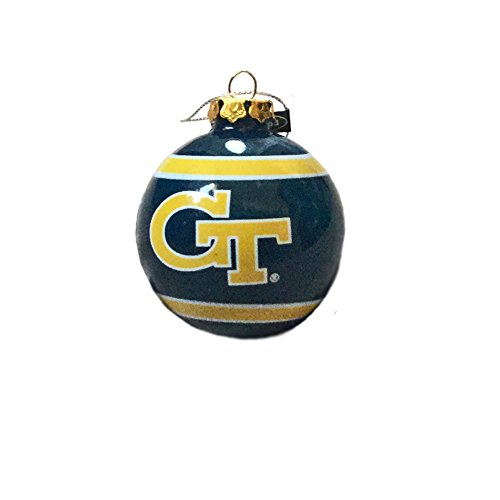Georgia Tech NCAA Slogan Team Logo Glass Ball Christmas Ornament