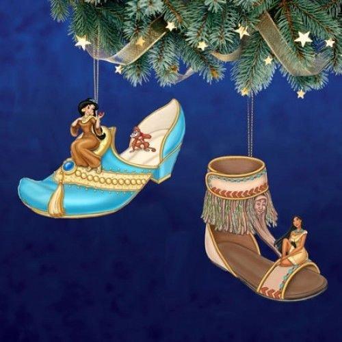 Disney Once Upon A Slipper Ornament #11 Bradford Exchange Ornament Set