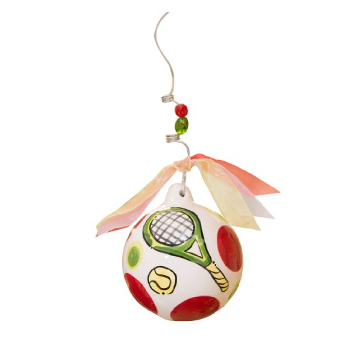 Glory Haus Tennis Ball Ornament, 4 by 4-Inch
