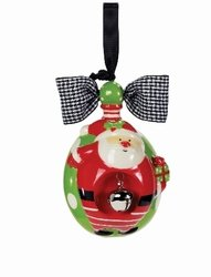 Mud Pie Jinglebelly Ornaments (Reindeer) (Santa)