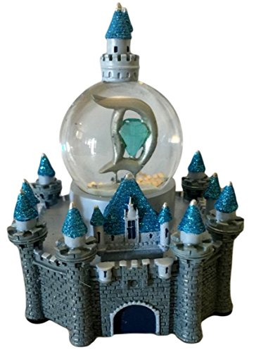 Disneyland 60th Anniversary Diamond Celebration Mini Castle Snowglobe