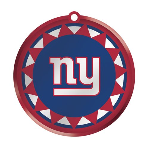New York Giants Glass Logo Disc Ornament