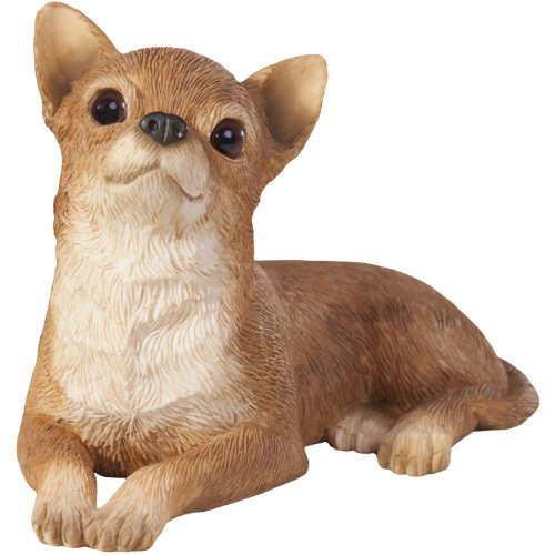 Sandicast Tan Chihuahua Sculpture, Lying, Small Size