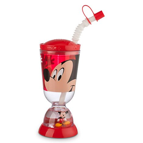 Disney Kids Snowglobe Tumbler with Straw – Mickey Mouse