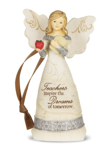 "Pavilion Gift Company 82344 Elements ""Teacher"" Angel Figurine, 4-1/2-Inch"