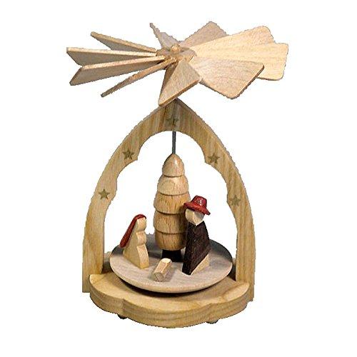 Alexander Taron Richard Glaesser Miniature Pyramid with Nativity in Natural finish – 4.25″H x 3.25″W x 3.25″D