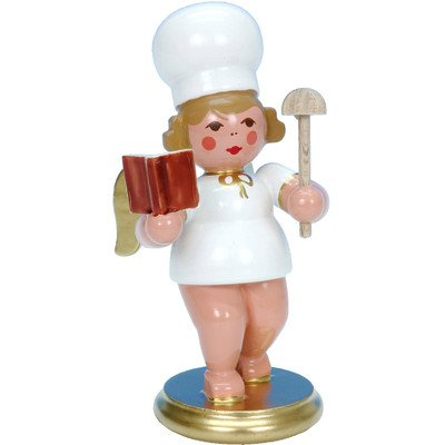 "31268 – Christian Ulbricht Ornament Angel Baker w/Cook Book – 3″""H x 1.25″""W x 2″""D"