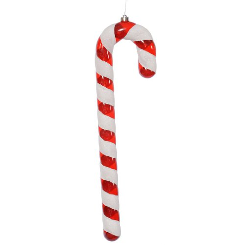 Vickerman Christmas Trees O134312 Candy Cane Ornament, 12-Inch, Red/White, Set of 6