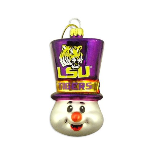LSU Tigers 3 1/2″ Top Hat Snowman Ornament