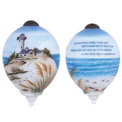 Ne'Qwa Art – Footprints in the Sand Hanging Ornament