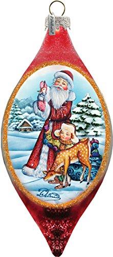 G. Debrekht Santa Kids Cut Glass Ornament Drop
