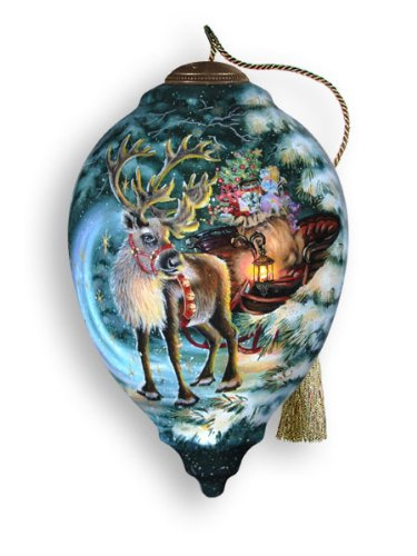 Ne'Qwa Art Enchanted Reindeer – Glass Ornament Hand-Painted 692-NEQ