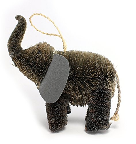Martha Stewart Buri Bristle Brush 7-in Elephant Christmas Ornament