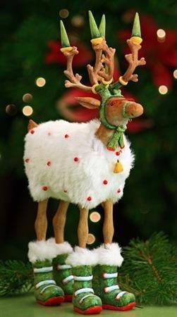 6.5″ Patience Brewster Krinkles Dashaway Blitzen Reindeer Christmas Ornament